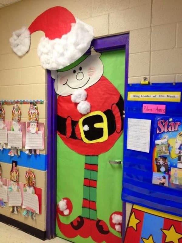 mural de Natal para escola duende