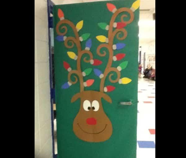 mural de Natal para escola renas