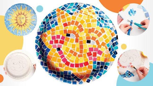 mosaico de papel passo a passo