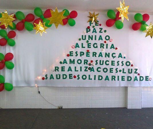 mural de Natal para escola facil