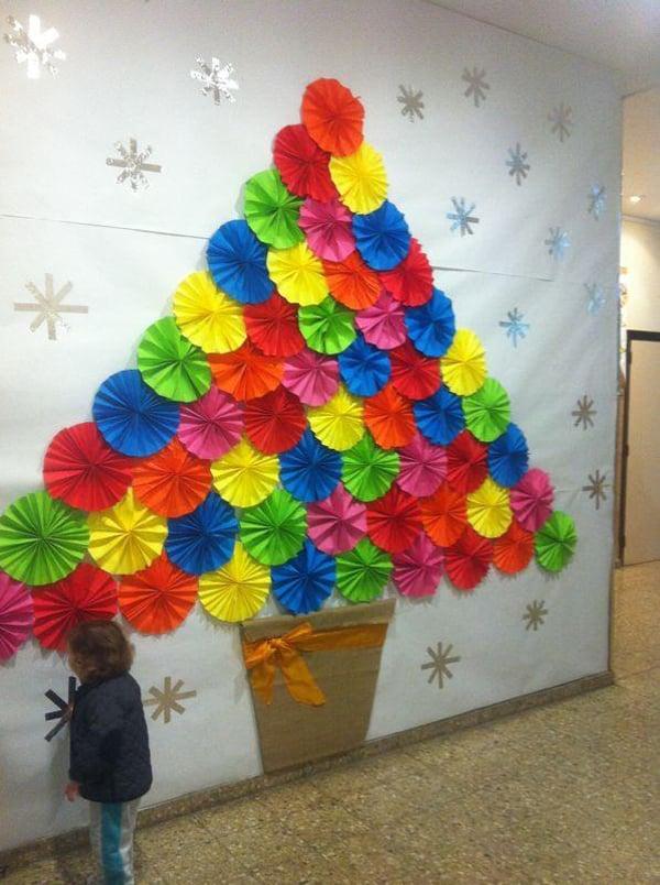 mural de Natal para escola papel