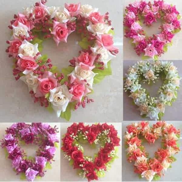 coração de flores naturais