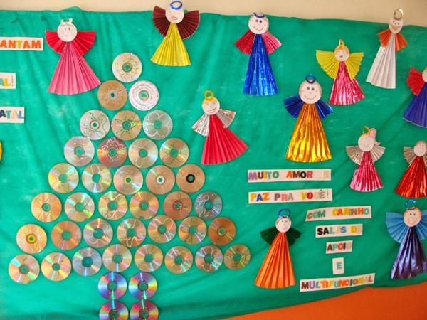 Painel de natal para escola 25 modelos for Mural de natal 4 ano