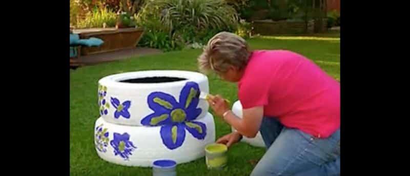 vaso de pneu como fazer