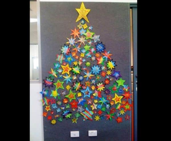 mural de Natal para escola simples