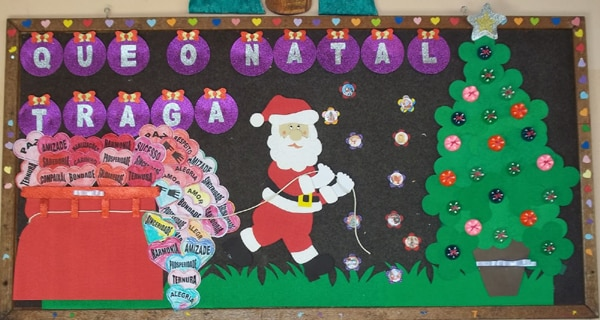 mural de Natal para escola noel