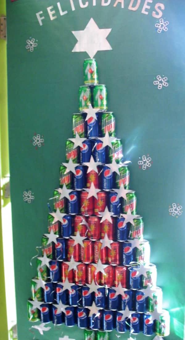 Painel de natal para escola 25 modelos for Puertas decoradas navidad material reciclable