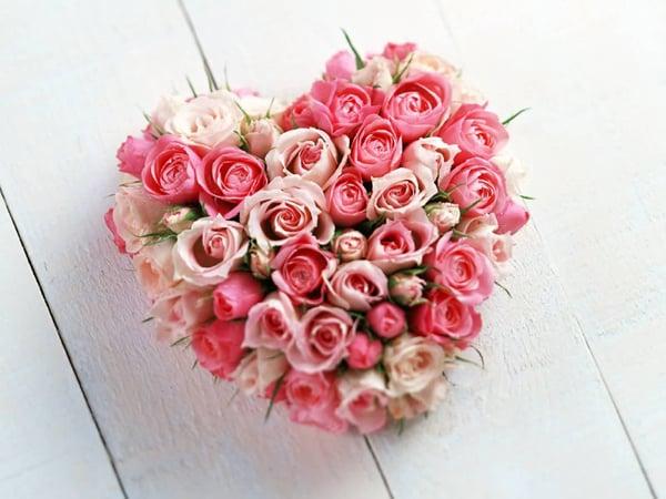 tutorial coração de flores