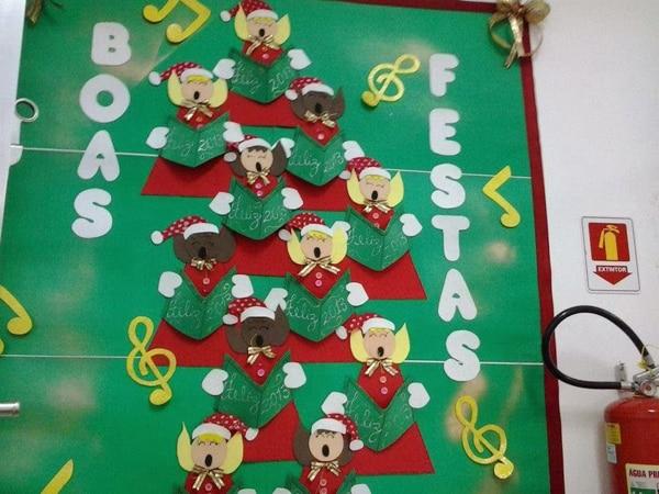 mural de Natal para escola lousa