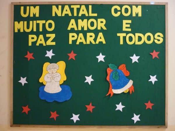 mural de Natal para escola anjo