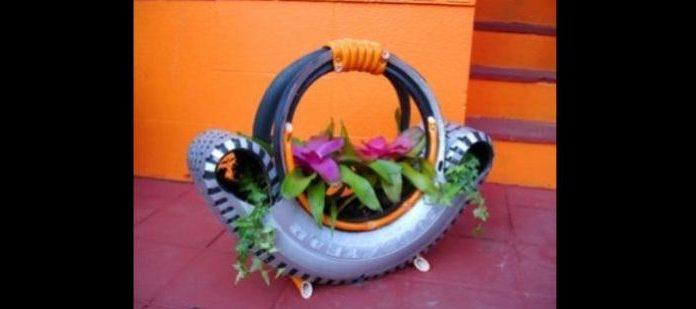 vaso de pneu cesta