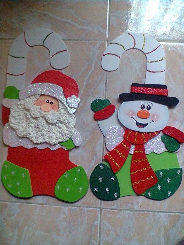 Painel de natal para escola 25 modelos for Manualidades con goma eva para navidad
