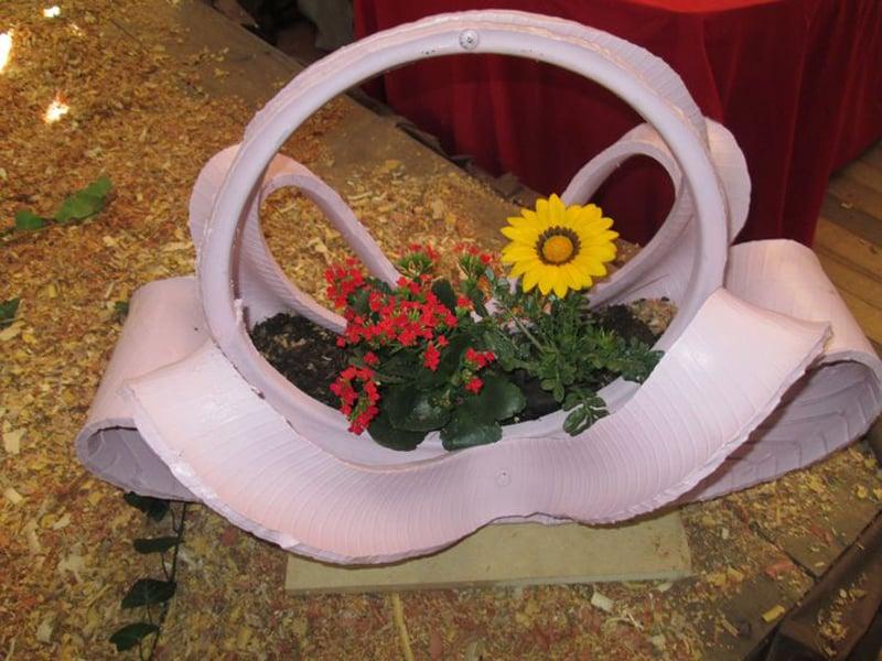 vaso de pneu suporte