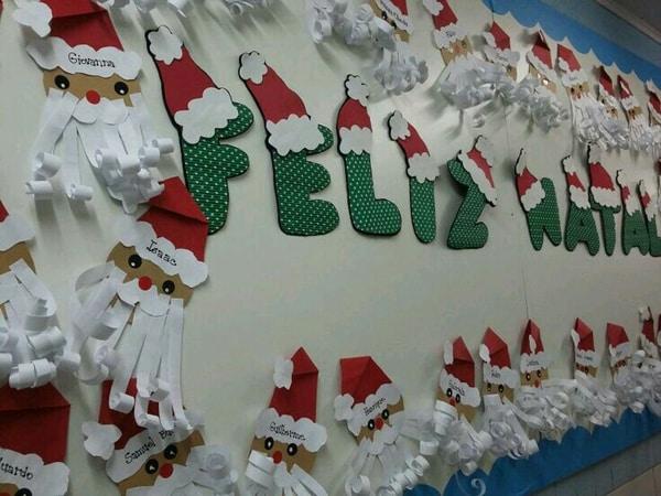 mural de Natal para escola letras