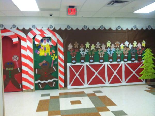 mural de Natal para escola decorado