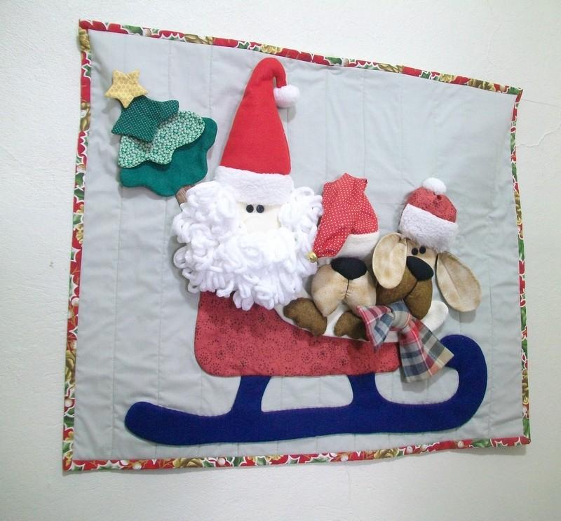 mural de Natal para escola trenó