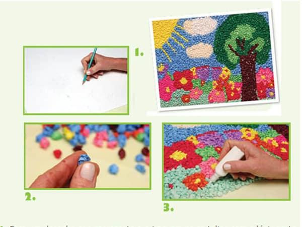 mosaico de papel crepom