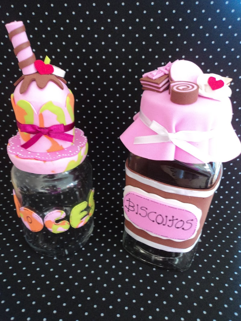 pote decorado sorvete