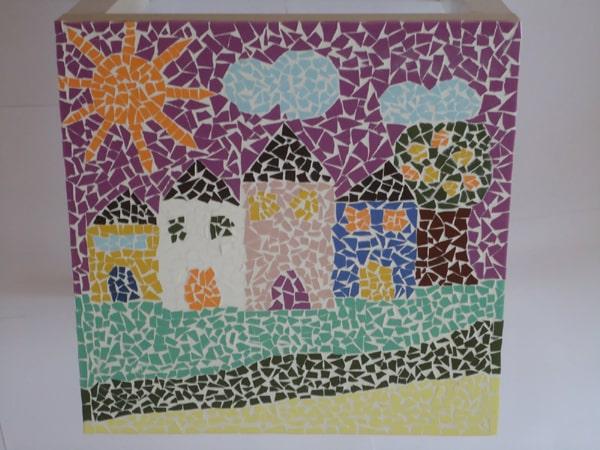 mosaico de papel tela