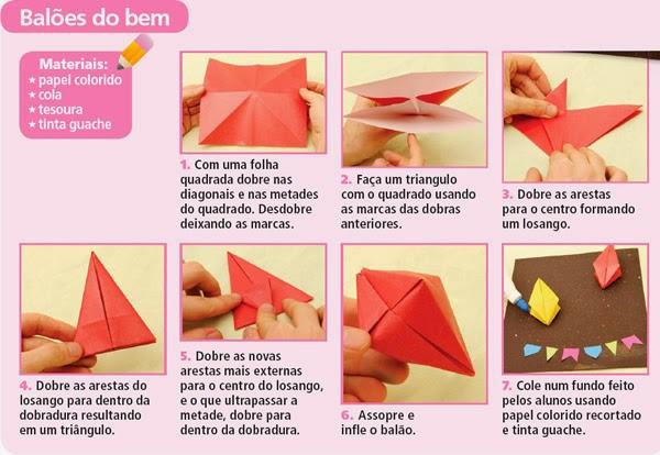 balao com papel passo a passo balao com papel