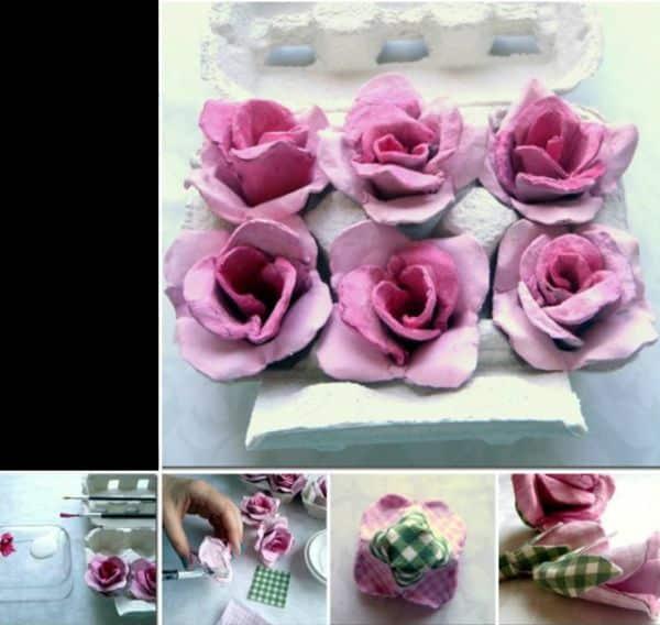 flores de caixa de ovo degrade
