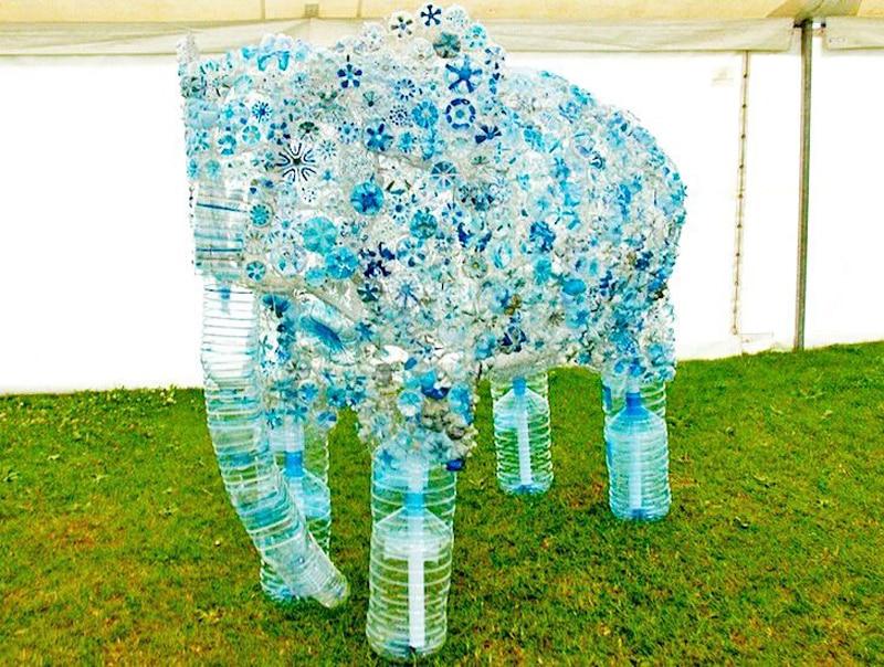reciclagem de garrafa pet bicho