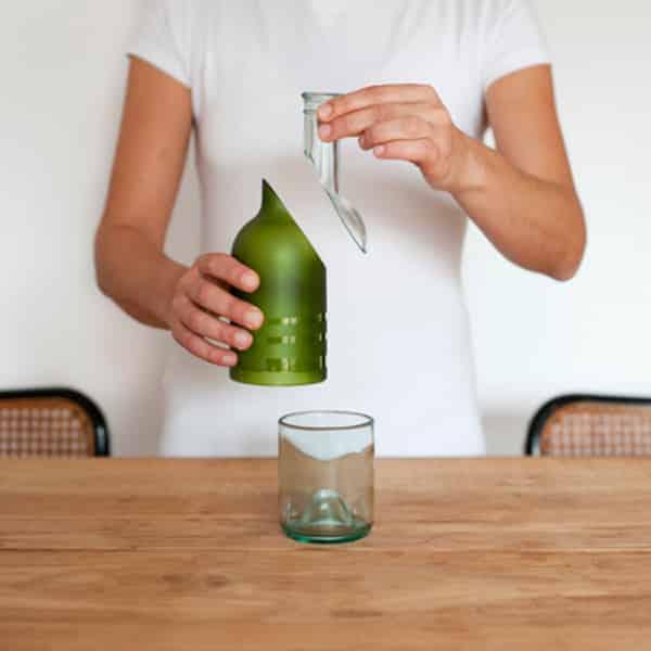 garrafa de vidro cortada como fazer