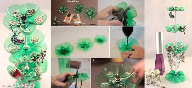 reciclagem de garrafa pet joias