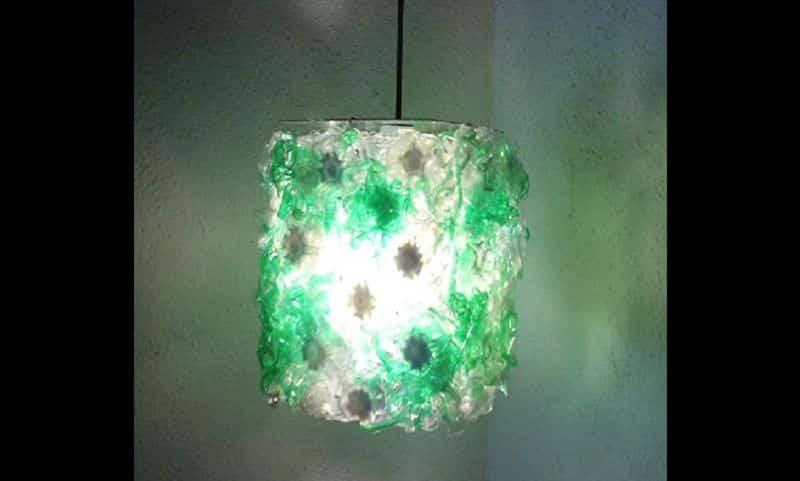 reciclagem de garrafa pet luminaria