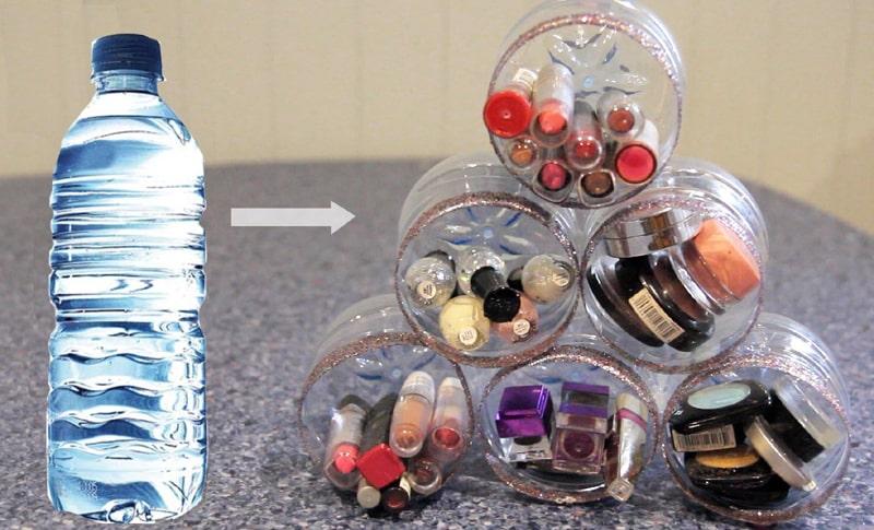 reciclagem de garrafa pet organizador