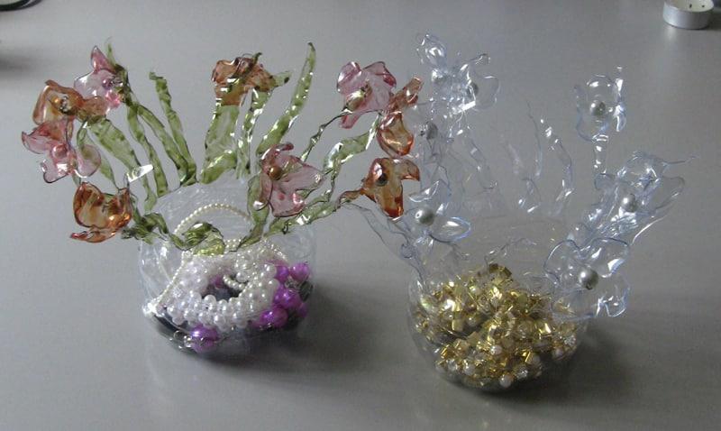 reciclagem de garrafa pet porta joias