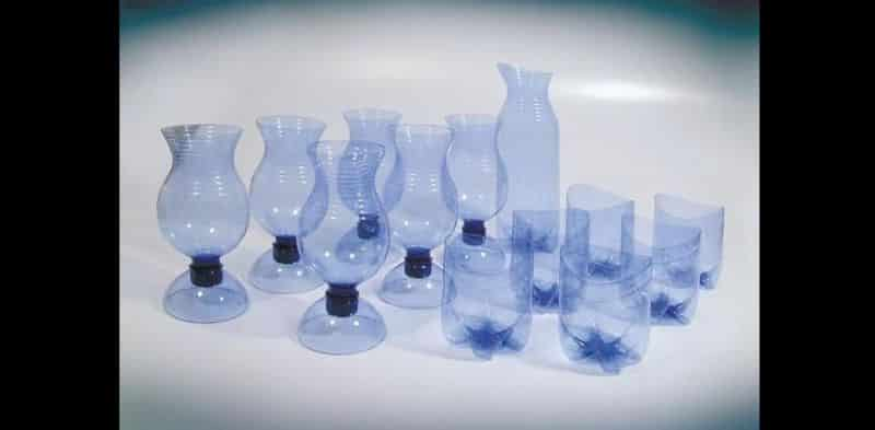 reciclagem de garrafa pet taça