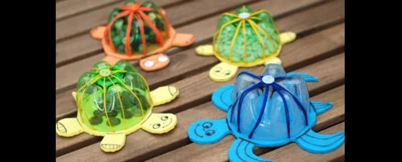 reciclagem de garrafa pet tartaruga
