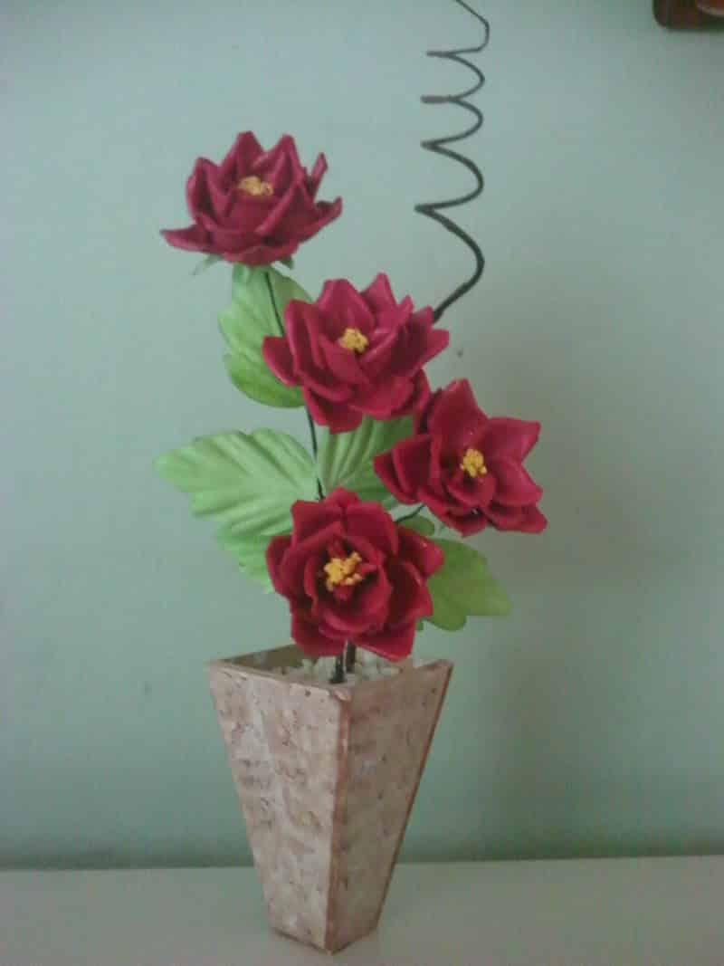 flor de eva no vaso