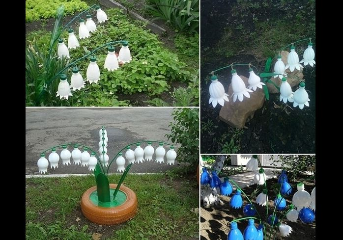 flores recicladas de embalagem