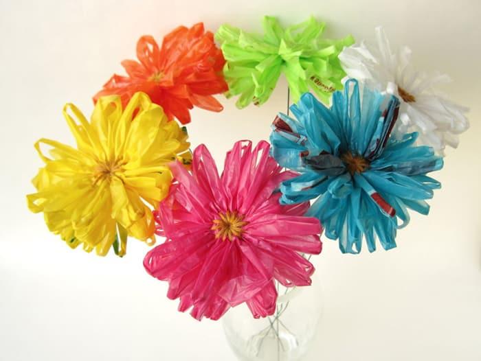 flores recicladas como fazer