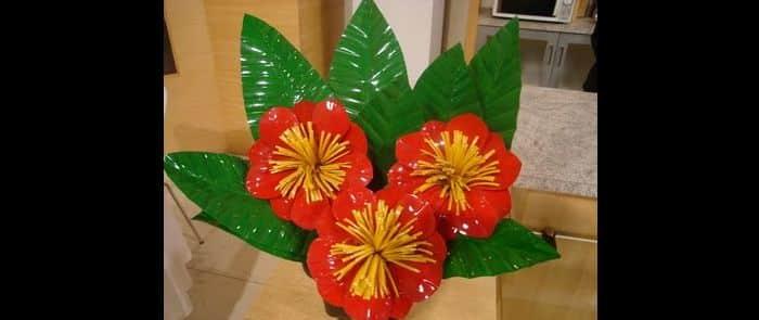 tutorial flores recicladas