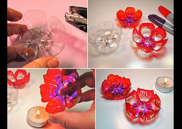 flores recicladas de pet passo a passo