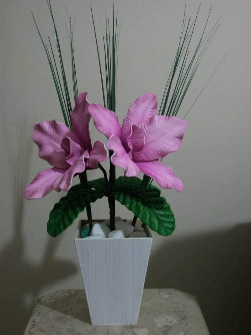como fazer flor de eva