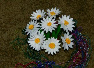 flores recicladas plasticas