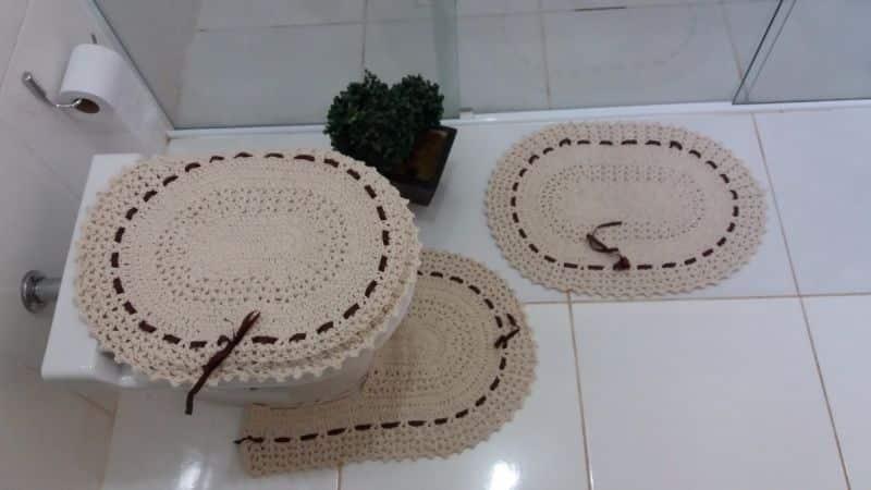 jogo de banheiro de croche simples