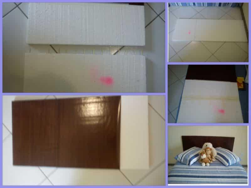 cabeceira de cama isopor