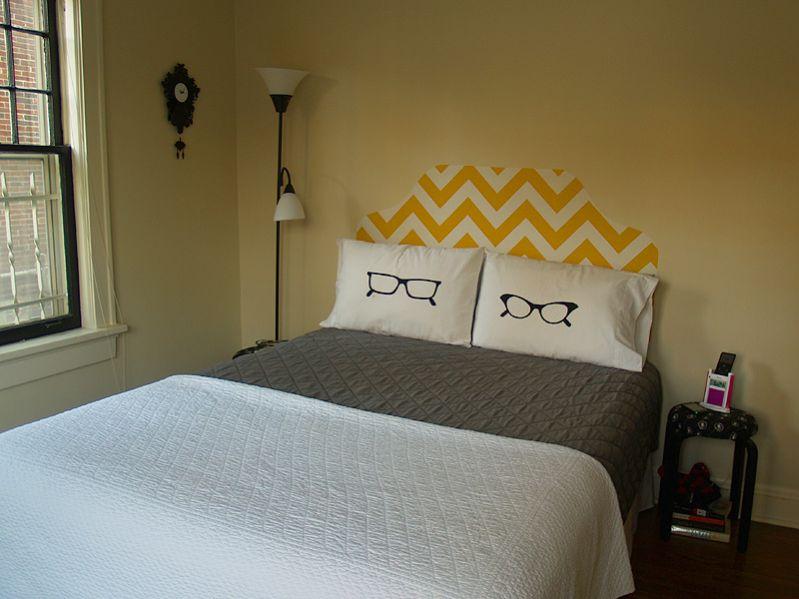 cabeceira de cama tecido