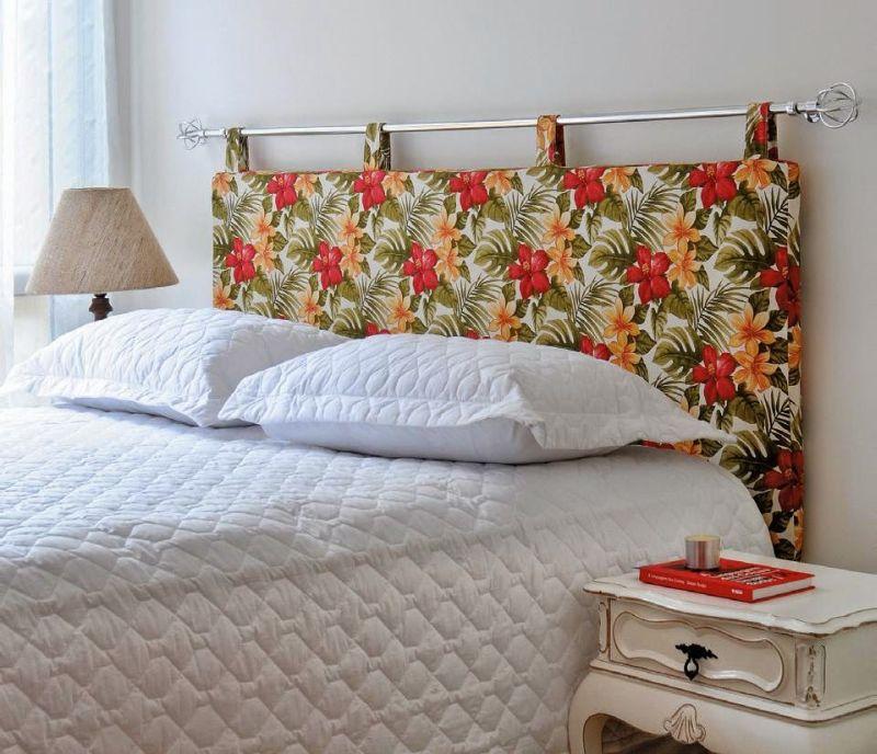 cabeceira de cama cortina