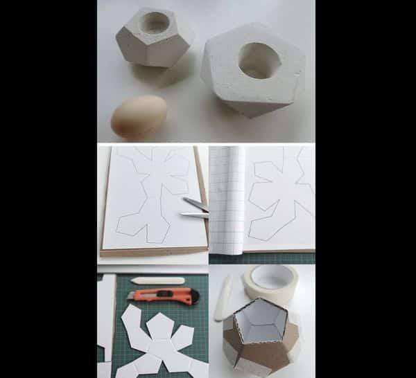 vaso de cimento papelao