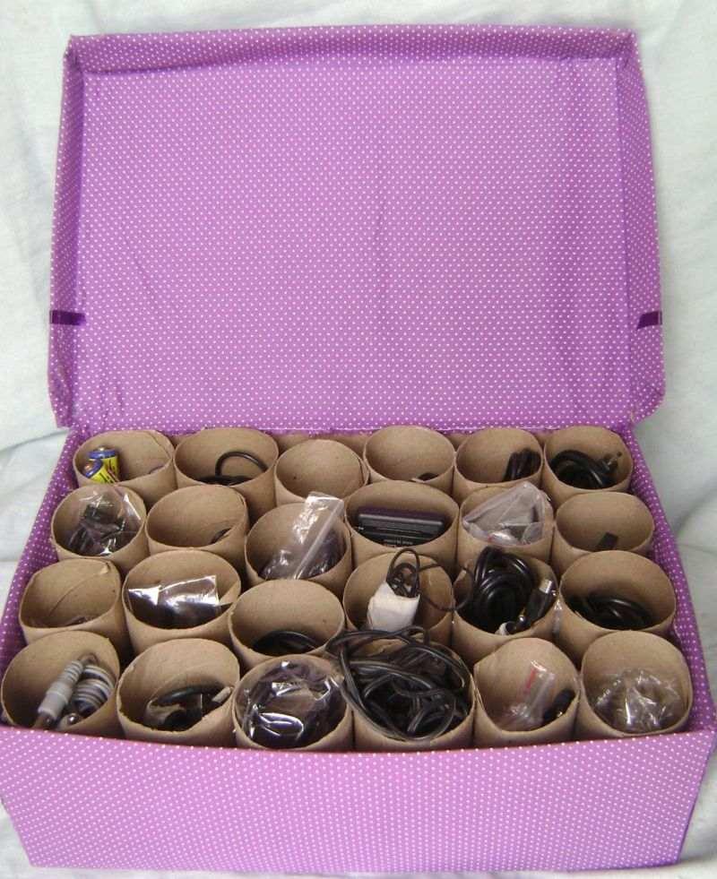 caixa com rolos