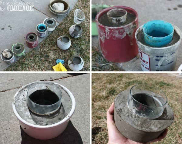 vaso de cimento passo a passo