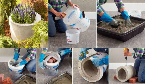 vaso de cimento tutorial vaso de cimento
