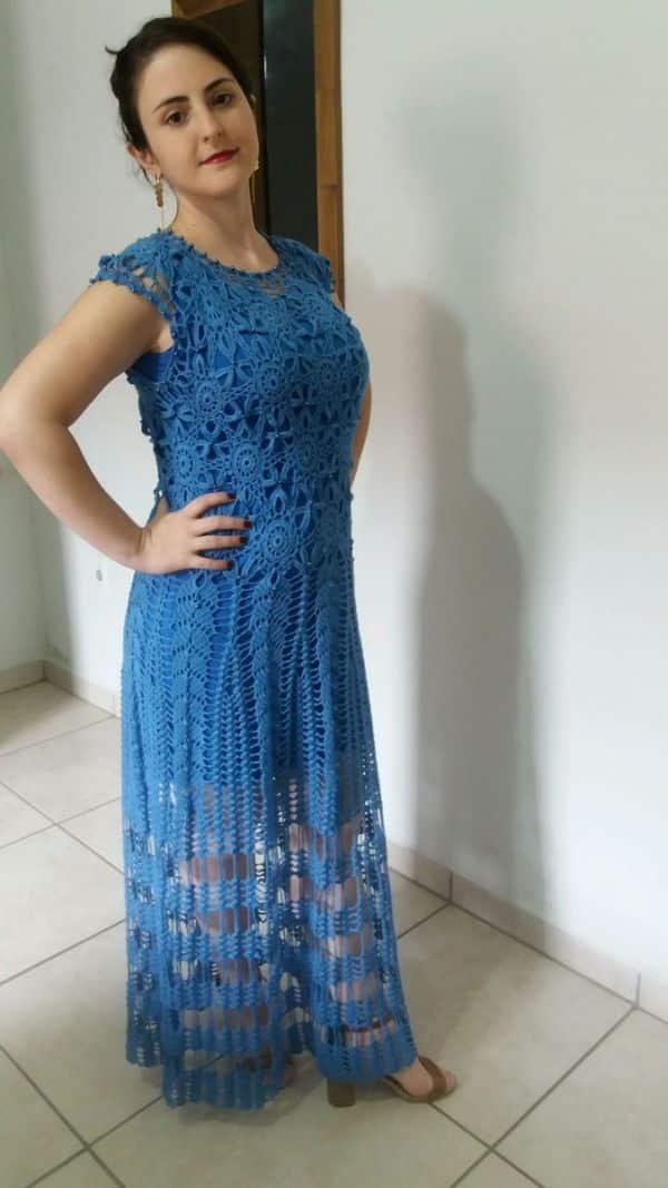 c4d17b991 Vestido de Crochê Longo com Gráfico: 15 Fotos e Modelos Diferentes