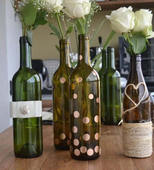 Reciclagem-de-garrafas-de-vinho para casamento